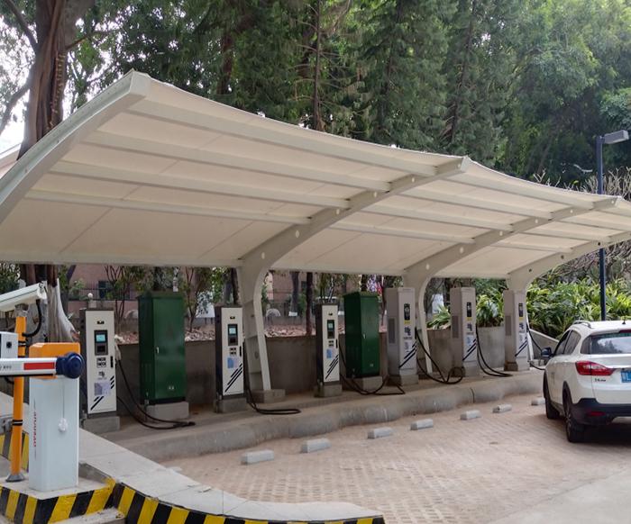 充电桩膜结构车棚有什么优势?