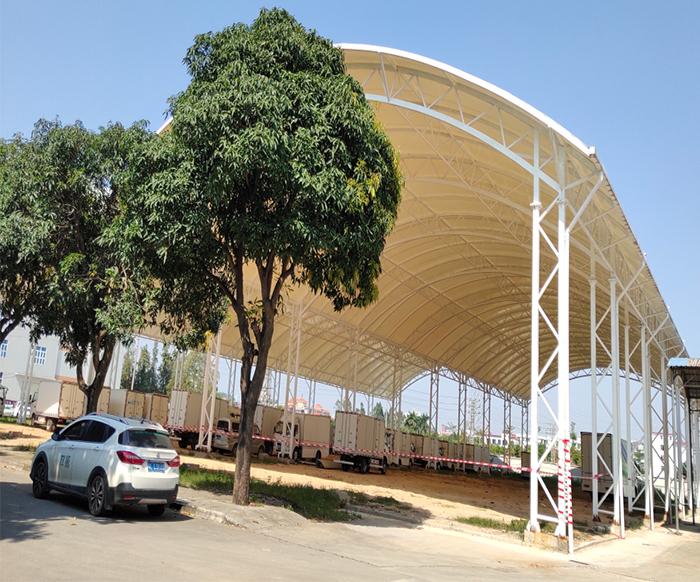 膜结构停车棚环保吗?